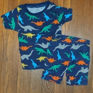 Navy blue Carter's dinosaur jammies 12m shorts